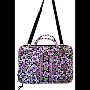 Vera Bradley Plum Petals Hard Laptop Bag